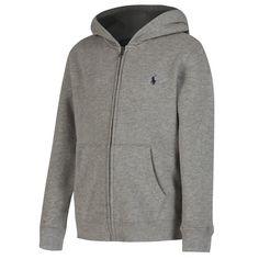 Ralph Lauren Boys Grey Fleece Hoodie
