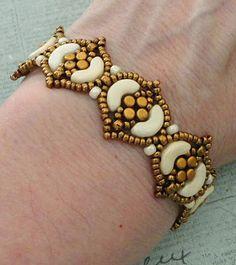 Linda's Crafty Inspirations: Bracelet of the Day: Fina Bracelet - Ivory & Gold