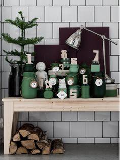 DIY julkalender christmas calendar / DIY: make a christmas calendar with painted jars