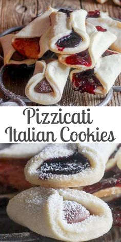 Pizzicati Italian Cookies, a delicious crunchy Cookie Recipe. Traditionally filled with your favorite Jam or why not a little Nutella? These simple, buttery cookies make the perfect snack or even dessert. Italian Cookie Recipes, Italian Cookies, Easy Cookie Recipes, Cookie Desserts, Baking Recipes, Easy Italian Desserts, Authentic Italian Recipes, Simple Dessert Recipes, Italian Wedding Cookies