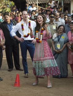 Pin for Later: Kate Middleton and Prince William's Kid-Free Tour of India Has Included Some Very Cute Couple Moments