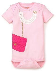 Sara Kety Infant Girls' Bag & Pearls Bodysuit - Sizes 0-18 Months | Bloomingdale's