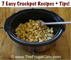 7 Easy Crockpot Recipes and Tips!  via TheFrugalGirls.com {do you love your crockpot?  I'm wildly in love with mine!}  #crockpot #recipes