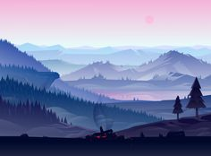 Moody Illustrations by Adrian Fernandez | Inspiration Grid | Design Inspiration