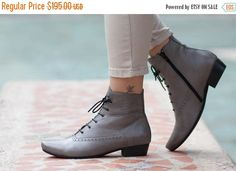 Leather Boots Ankle Boots Leather by BangiShop