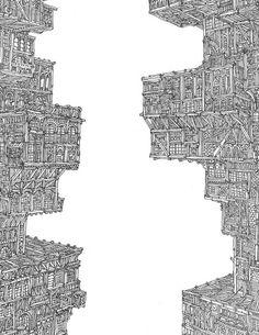 "Barcelona-based illustrator VASCO MOURÃO.  a little ""Invisible Cities""?"