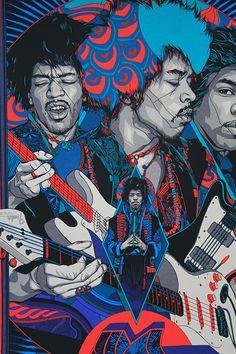 Jimi Hendrix by Tyler Stout