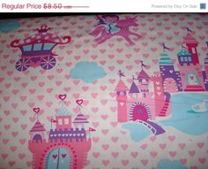 ON SALE Princess Land Fabric by Michael Miller  by sewcraftscorner, $7.57