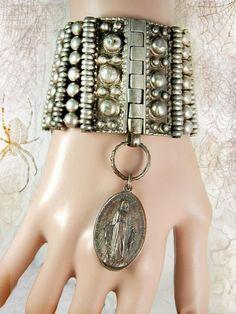 Vintage Medieval Rosary sacred heart bracelet by vintagesparkles, $425.00