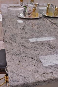 Ice White granite bathroom. Ida Bray Deats, Contractor-Consultant; Manuel Zapata, Granite-Tile Fabrication, natural stone from Levantina Dallas, photography by Michael Hunter.