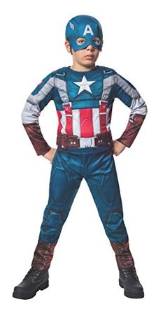 Rubies Marvel Comics Collection: Captain America: The Winter Soldier Fiber-Filled Retro Suit Captain America Costume, Child Small >>> You can find out more details at the link of the image.