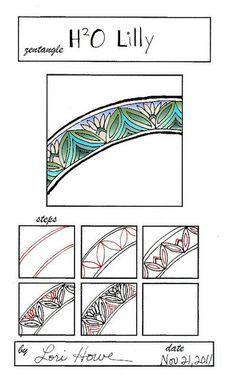 H 2 0 lily zentangle pattern - Google Search