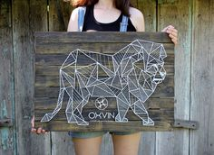 lion geometric string art