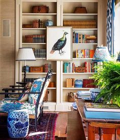 Home Library 📚Mark Sikes via 💕🧡 Room Inspiration, Interior Inspiration, Mark Sikes, Interior Decorating, Interior Design, Apartments Decorating, Decorating Bedrooms, Bedroom Decor, Decorating Ideas