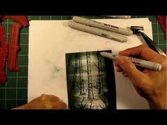 Stampscapes 101: Video 24A. Eagle in the Birch.  Part 1 of 2.
