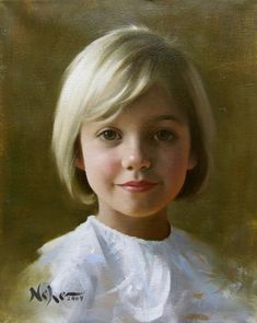 "Painting by Brian Neher, Portrait of Bee, 10"" x 8"", Oil on Linen www.BrianNeher.com"