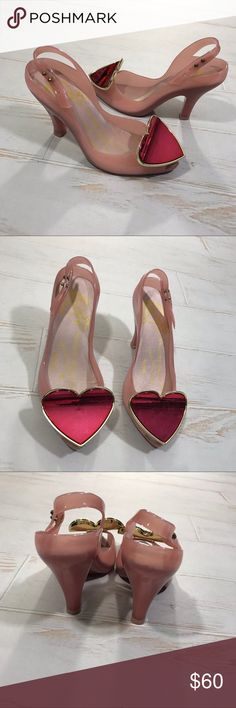 Vivienne Westwood Lady Dragon Pink Jelly Heels Vivienne Westwood Anglomania Melissa Lady Dragon Heart Pink Jelly Heels  Size usa 4 euro 35 Good condition just has a few minor marks on the bottoms! No box! If you have any questions please message me thanks! Check out my other listings Vivienne Westwood Shoes Heels