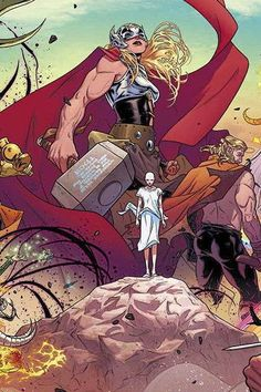*High Grade* (W) Jason Aaron (A/CA) Russell Dauterman When DR. JANE FOSTER lifts the mystic hammer Mjolnir, she is transformed into the Goddess of Thunder, THE MIGHTY THOR! Her enemies are many, as As