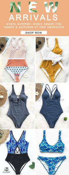 Pick up these chic fantastic bathing suits,~ Various styles include: one-piece, print style, tie design, ... Have some fun in the sun with them! FREE shipping ~ SHOP NOW!