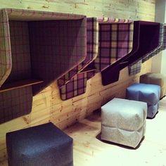 #neocon2013 cubes, poufs BuzziSpace