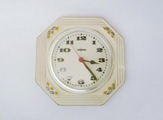 Vintage German Ceramic Wall Clock from Peweta by oppning on Etsy, €58.00
