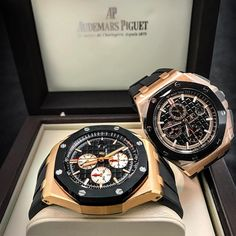 """3,505 Likes, 98 Comments - Luxury Watches (@crmjewelers) on Instagram: """"Audemars Piguet Gang  Rose Gold Ceramic 44mm $35,750 ⚡️⚡️ New 44mm $42,500 What's Your Choice?"""""""