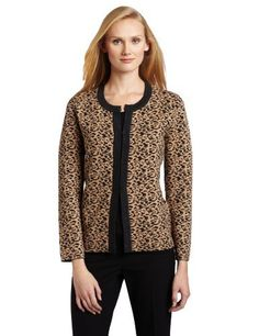 Jones New York Women's Animal Jewel Neck Cardigan Jones New York. $149.00. 72% Viscose/28% Polyester. Knit dressing. Made in China. Machine Wash. Animal print