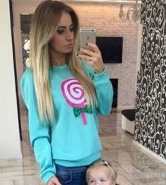 2016 Winter Women Sweatshirts Cotton Clothes Fashion Bow Lollipop Printed Fleece Hoodies Casual Autumn Warm Sweatshirts Pullover