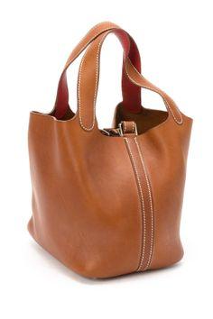 Leather Picotin PM Stamp Square H Handbag