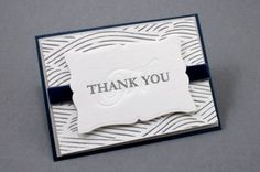 Beautiful thank you cards using diecutting
