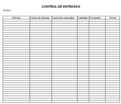 Formatos de control de inventarios cocina pinterest for Formatos y controles para restaurantes gratis
