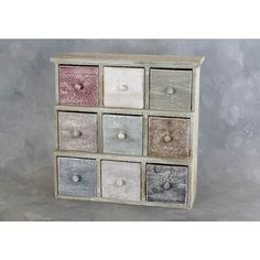 Wooden shelf with 9 colorful shop from wholesale and import