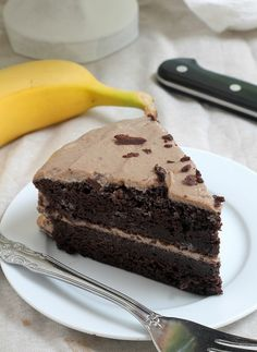 Healthy ingredients chocolate cake with PB Banana Frosting For Frosting: 1 package shelf stable tofu (can buy at trader joes or online as Mori-nu tofu) 2 large bananas 2 tbsp salted peanut butter (if you don't use... 1 tsp vanilla