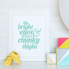 We Love This Baby Nursery Art Print