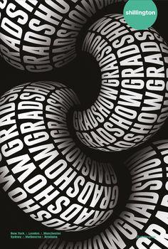 - Gradshow Identity Linked Design by Shanti Sparrow Gradshow Identity Linked # Design von Shanti Sparrow Type Posters, Graphic Design Posters, Graphic Design Typography, Graphic Design Illustration, Graphic Design Inspiration, Cool Poster Designs, Typography Drawing, 3d Typography, Creative Typography