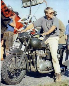 By any account one of the most famous motorheads of the century was Steve McQueen. Here's an inside look at three of McQueen bikes. Steve Mcqueen Triumph, Steve Mcqueen Motorcycle, Steve Mcqueen Style, Cool Motorcycles, Triumph Motorcycles, Vintage Motorcycles, British Motorcycles, Vintage Bikes, Cool Motorcycle Helmets