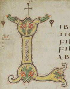 Porrentruy, Bibliothèque cantonale jurassienne, Ms. 34: Liber Evangeliorum et Capitulare · 2e tiers du IXe siècle Langue: Latin (http://www.e-codices.unifr.ch/fr/list/one/bcj/0034)