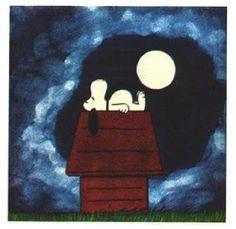 Full Moon. Snoopy & Peanuts