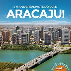 Capital litorânea do estado de Sergipe, Aracaju completa hoje 160 anos. Quem já teve o prazer de conhecer essa maravilha brasileira? Emoticon heart #VáDeMovida