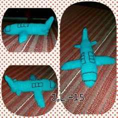 Crochet. Aeroplane. Virkattu. Lentokone