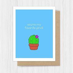 NEW Funny Love Card Cute Cactus Pun Handmade Greeting
