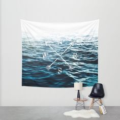 Winds of the Sea Wall Tapestry by Nicklas Gustafsson