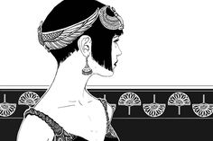 Art Deco 1920s Fashion inspired by the Egypt. La Mode Egyptienne. Illustration by *janey-jane