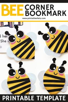 Bee Corner Bookmark Craft