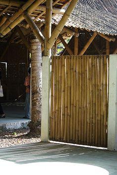 bamboo gate for garden