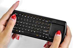 Mini Bluetooth QWERTY Keyboard - 71 Keys, Touch Pad, LED Flashlight $49.99