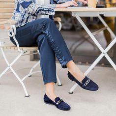 Paul Green, Elegant, Capri Pants, Loafers, Navy, Instagram Posts, How To Make, Slipper, Summer