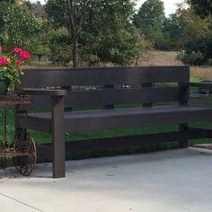 modern park bench - simple plans