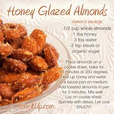 Honey Glazed Almonds *ToneItUp.com
