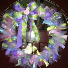 My ribbon Easter wreath